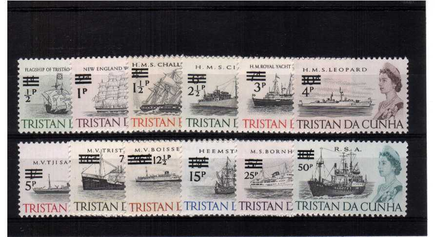 Ships -  Superb unmounted mint set of twelve.<br/><b>QMQ,</b>