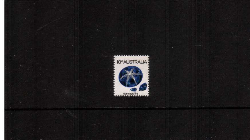 10c Star Sapphire single showing the variety<br/>