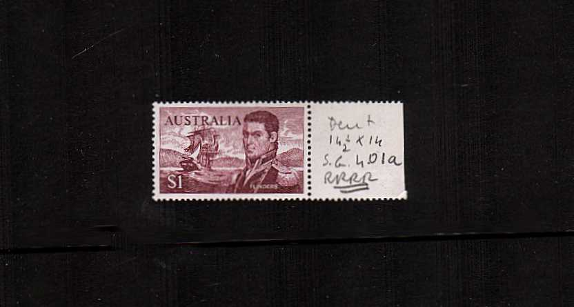 $1 Flinders in Brown-Purple<br/>