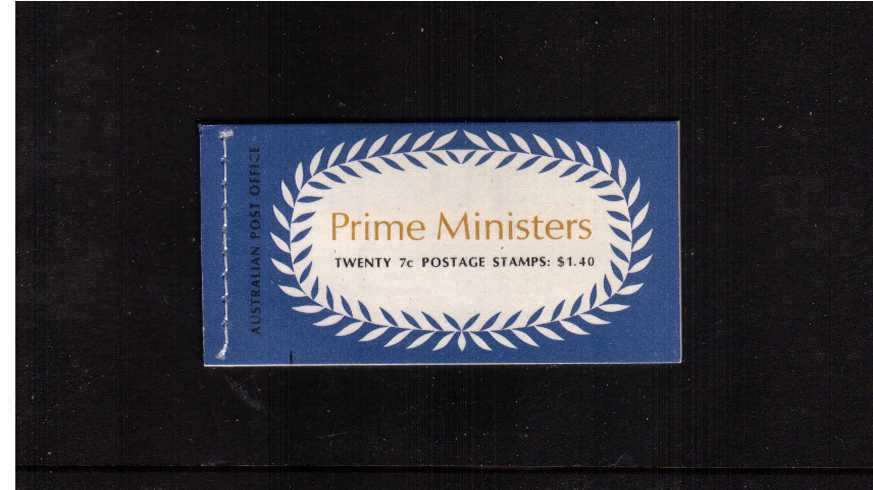 $1.40 Prime Ministers complete booklet