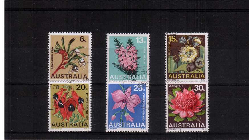 The State Flora Emblems set of six superb ''Cancelled to Order'' fine used.