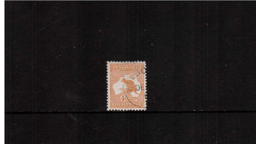 4d Orange - Die II<br/>A fine lightly mounted mint CTO single. Pretty!