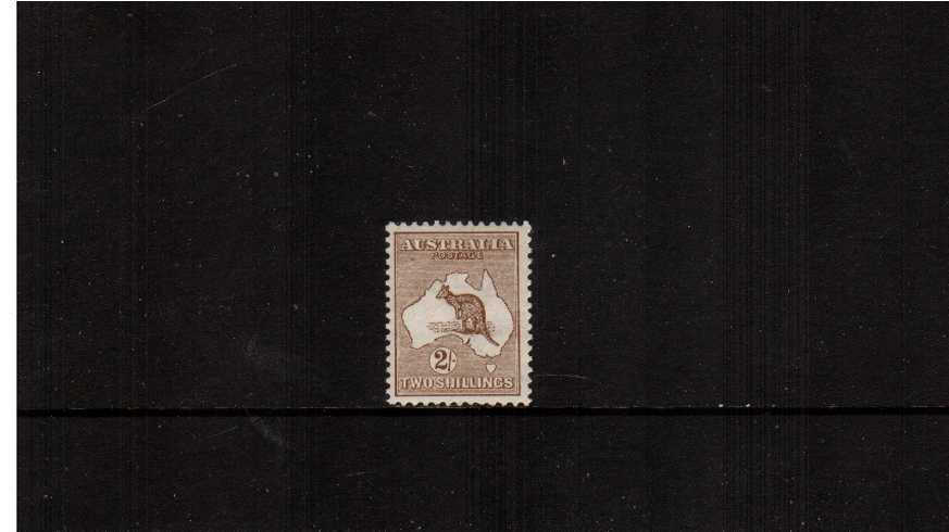 2/- Brown - Die II<br/>A lovely very lightly mounted mint single.