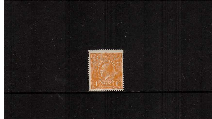 4d Yellow-Orange <br/>A fine lightly mounted mint single