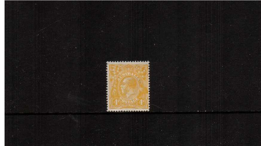 4d Lemon-Yellow <br/>A fine lightly mounted mint single. Scarce stamp!