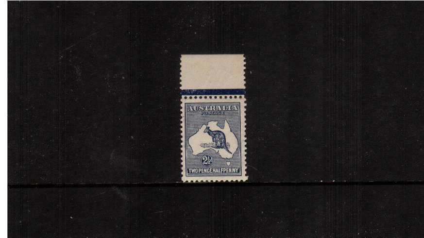 2絛 Indigo <br/>A superb unmounted mint top marginal single with excellent centering. Lovely!