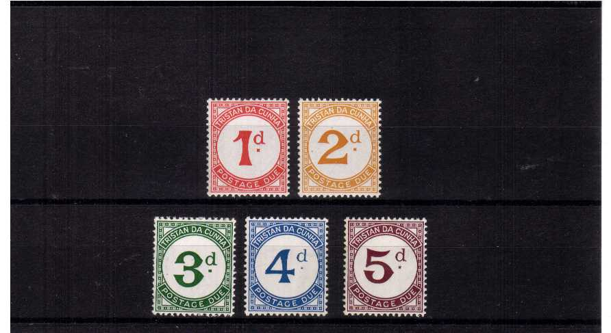 Superb unmounted mint set of five.