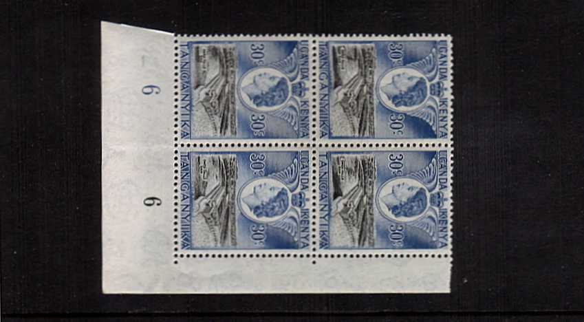 Royal Visit single  in a superb unmounted mint plate block of four.