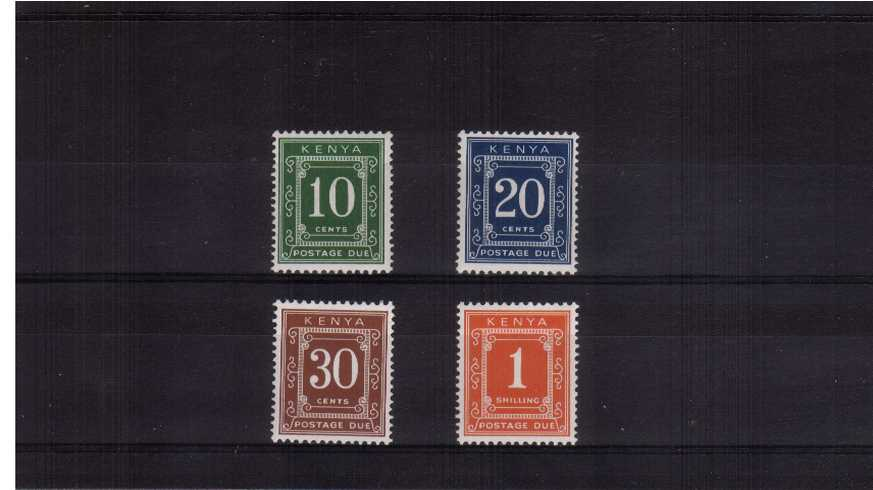 The POSTAGE DUE - Perforation 14x15 - set of four superb unmounted.