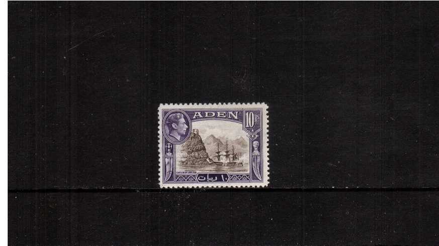 10r Sepia and Violet definitive single fine lightly mounted mint.<br><b>XCX</b>
