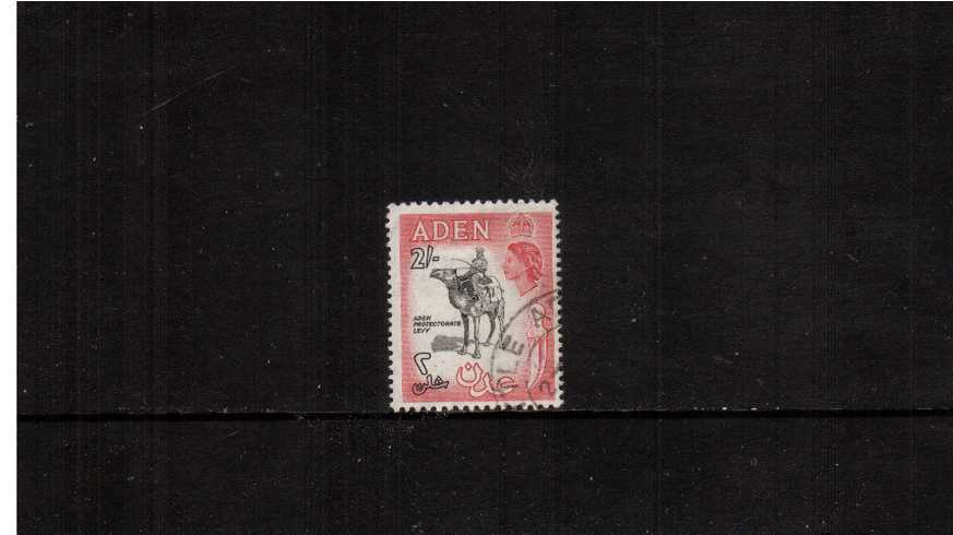 2/- Black and Carmine-Rose definitive single superb fine used.