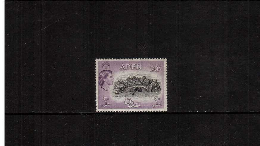20/- Black and Deep Lilac superb unmounted mint  definitive single.<br><b>XCX</b>