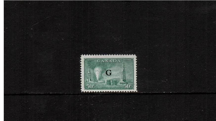 50c ''Oil Wells'' definitive single with ''G'' overprint fine lightly mounted mint.<br><b>XQX</b>