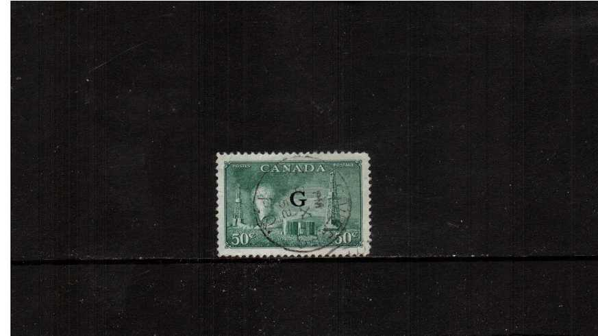 50c ''Oil Wells'' definitive single with ''G'' overprint superb fine used cancelled with a central CDS. Pretty! <br><b>XQX</b>