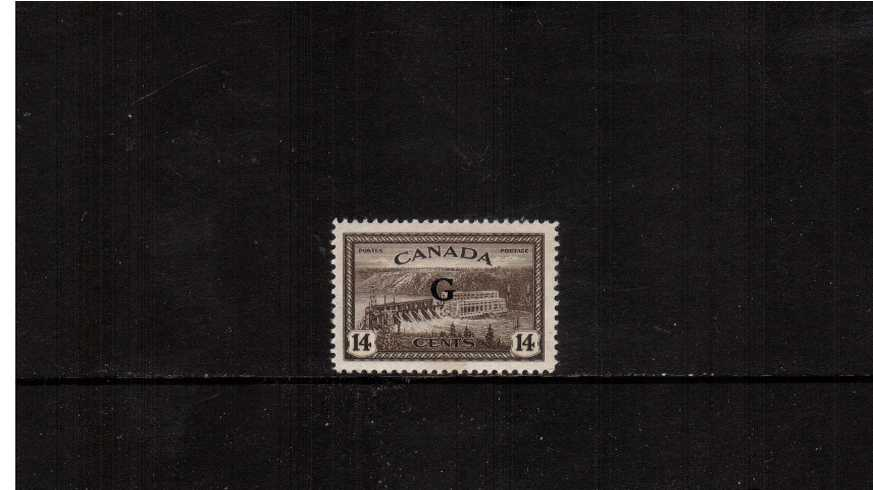 14c definitive single with ''G'' overprint fine very lightly mounted mint.<br><b>XQX</b>