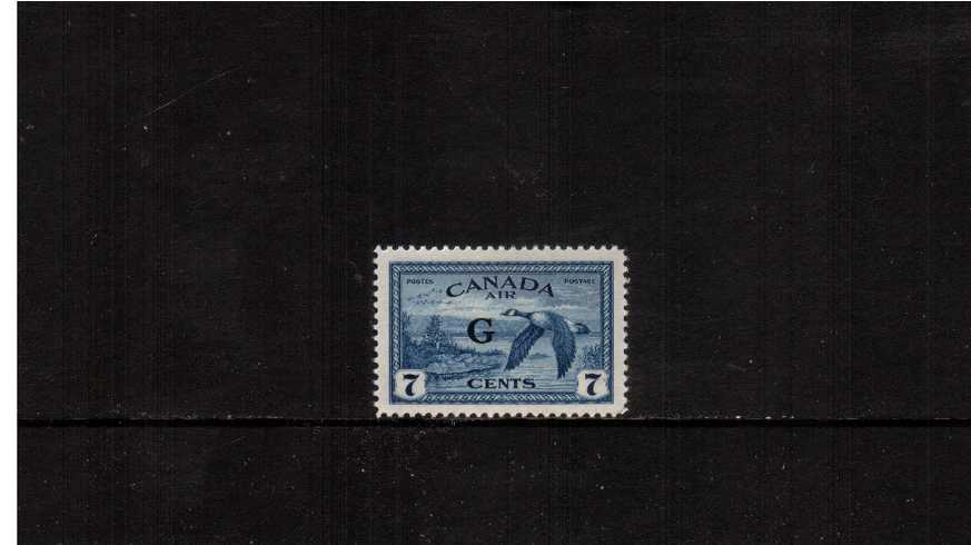 7c definitive ''AIR'' single with ''G'' overprint fine very lightly mounted mint.<br><b>XQX</b>