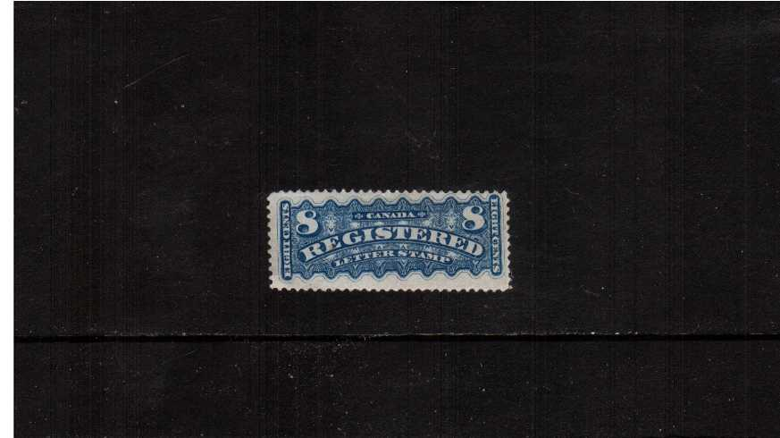 8c Bricht Blue<br/>A fresh good mounted mint single. Rare stamp!<br><b>XQX</b>