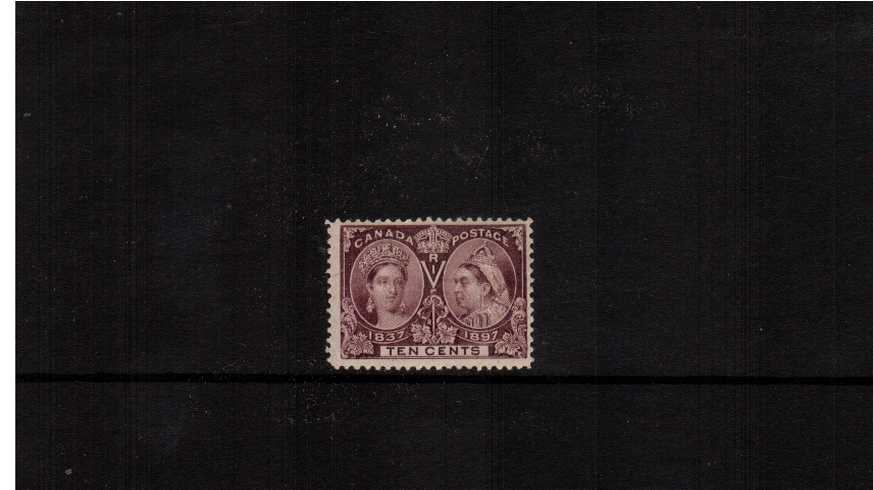 10c Purple ''Queen Victoria Jubilee Issue''<br/>A lovely very, very lightly mounted mint stamp with full original gum.