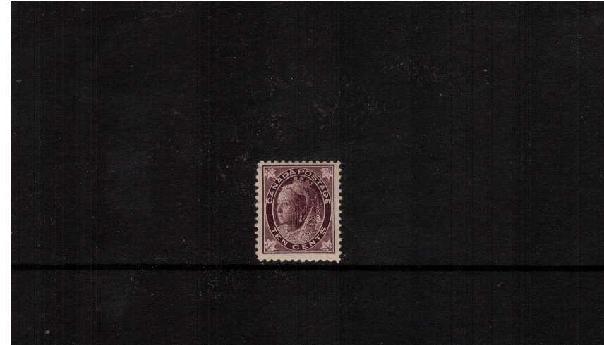 10c Brownish Purple ''Maple Leaf'' Issue<br/>A fine lightly mounted mint single.