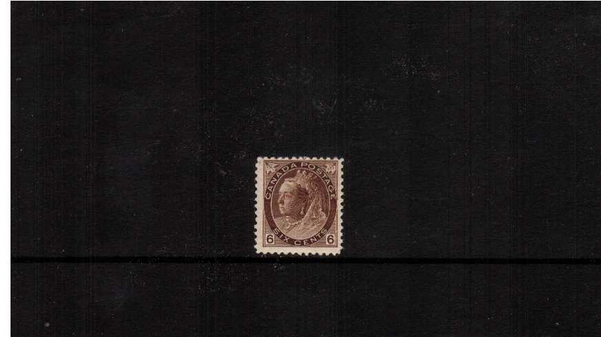 6c Brown ''Numeral Issue''<br/>