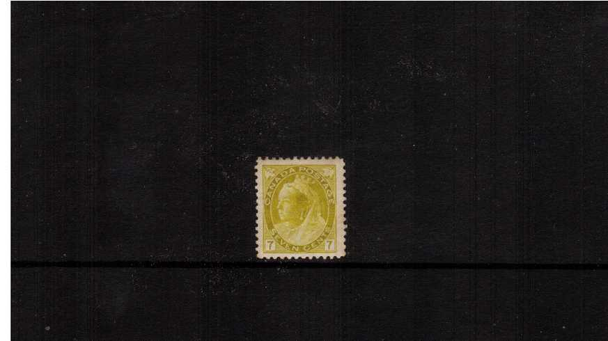 7c Greenish Yellow ''Numeral Issue''<br/>A bright and fresh mounted mint single.