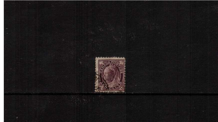 10c Brownish Purple ''Maple Leaf'' definitive single<br/>A reasonable looking stamp with small tear.