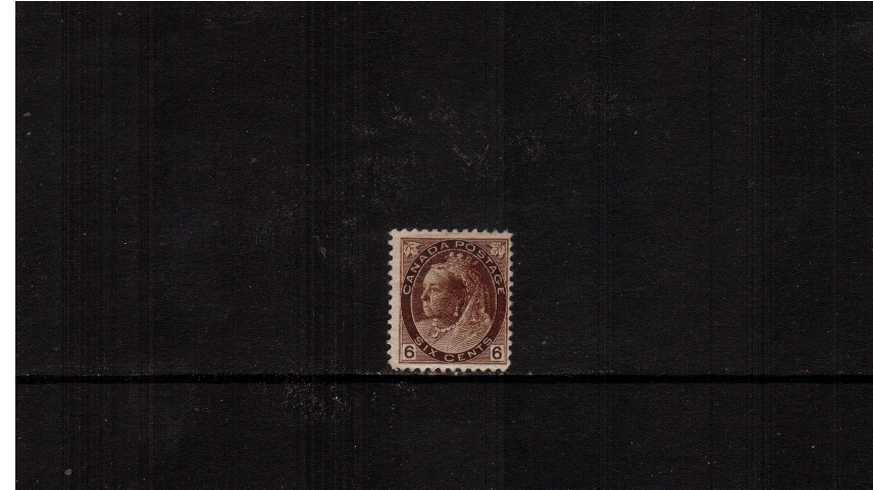 6c Brown ''Numeral Issue'' definitive single.<br/>