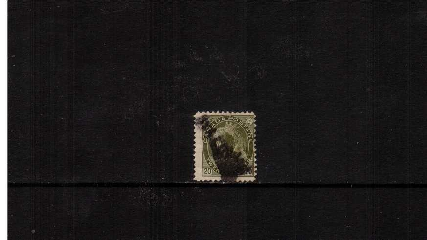 20c Olive-Green ''Numeral Issue'' definitive single<br/>