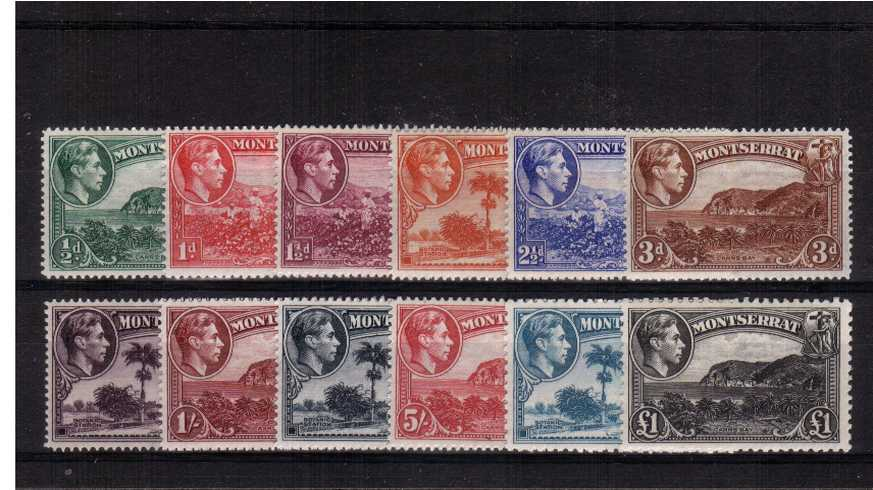 The Kinge George 6th pictorial set of twelve superb unmounted mint.