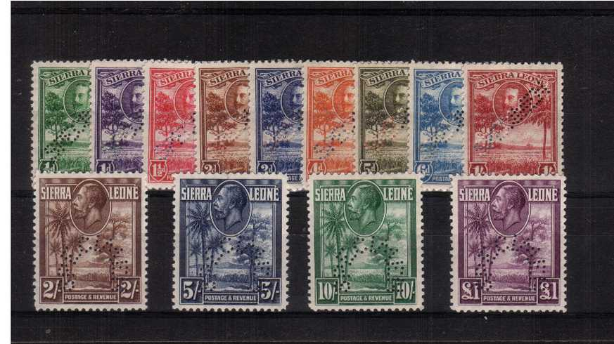 A fine mounted mint set of thirteen perfined ''SPECIMEN''. Lovely set.