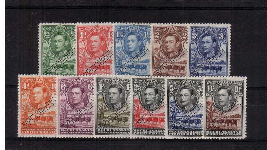 A fine lightly mounted mint set of eleven perfined ''SPECIMEN''.