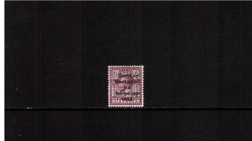 6d Reddish-Purple on Chalky Paper superb unmounted mint.