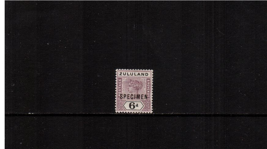 6d Dull Mauve and Black<br/>