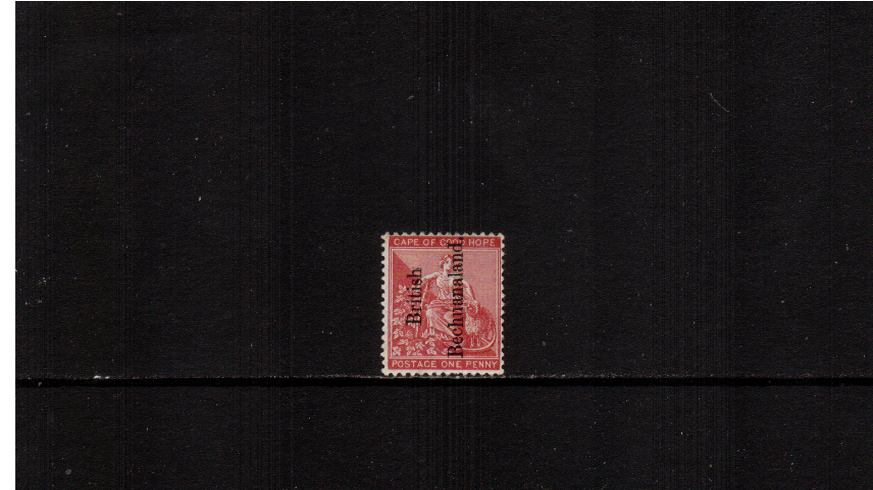1d Carmine-Red - Cape of Good Hope<br/>A fine lightly mounted mint single