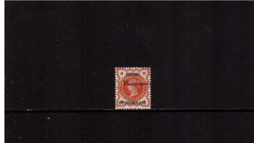½d Great Britain Vermilion overprinted BRITISH BECHUANALAND and PROTECTORATE<br/>very, very lightly mounted mint. 