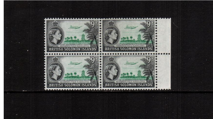 9d Emerald and Black - Watermark Multiple Script CA<br/>