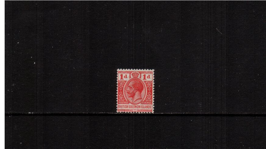 1d Scarlet - A superb unmounted mint single.<br><b>XMX</b>