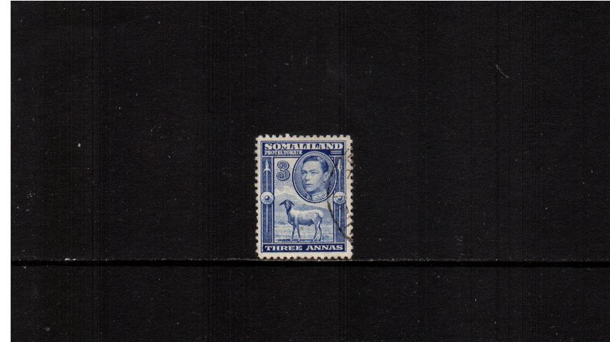3a Bright Blue ''Side face'' definitive single superb fine used.<br><b>XMX</b>