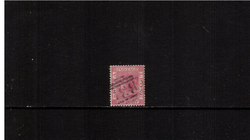 1d Rose-Red - Watermark Crown CA<br/>a bright and fresh fine used stamp.