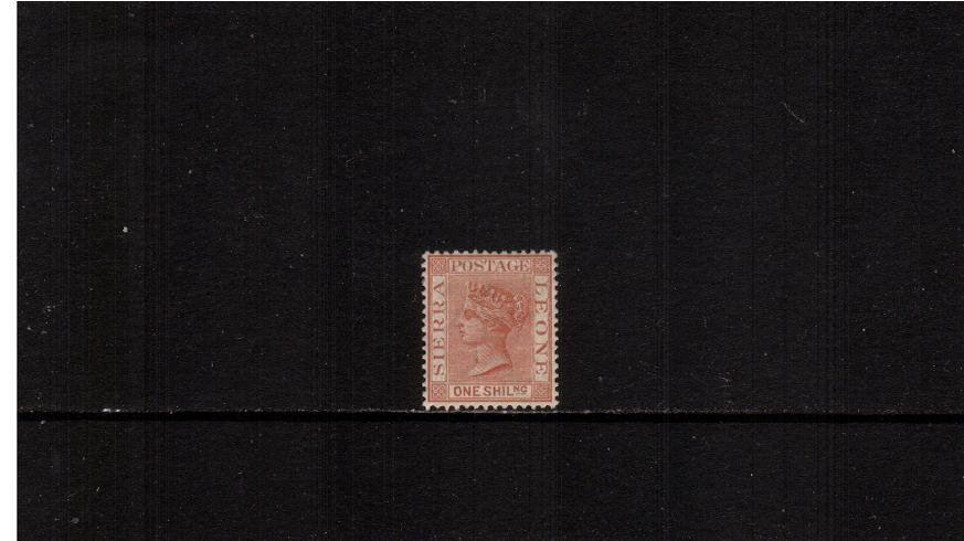 1/- Red-Brown - Watermark Crown CA<br/>