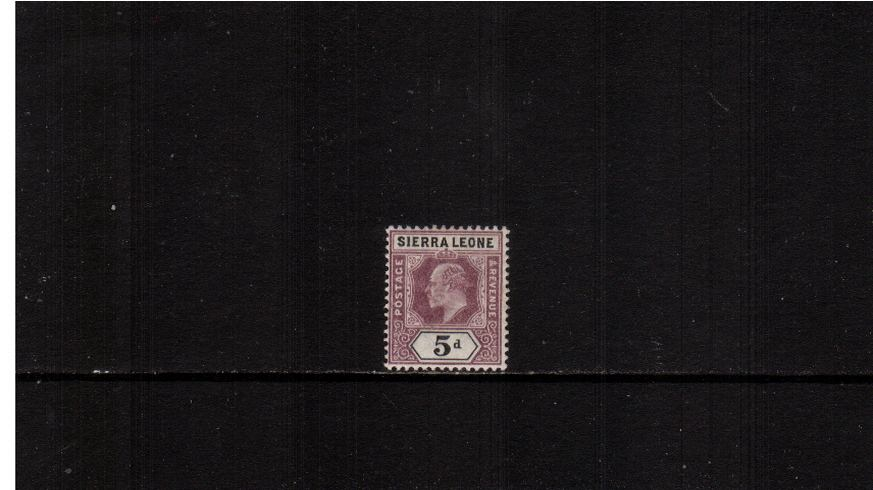 5d Dull Purple and Black - Watermark Crown CA<br/>