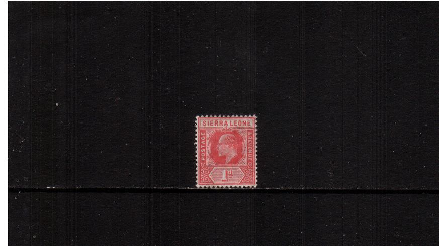 1d Red - Watermark Multiple Crown CA<br/>A good mounted mint single.