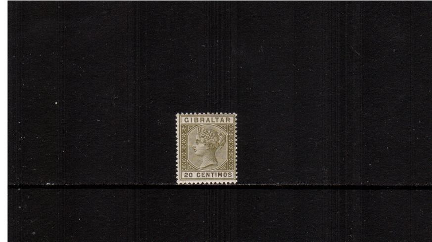 20c Olive-Green and Brown.<br/>A fine lightly mounted mint single. 