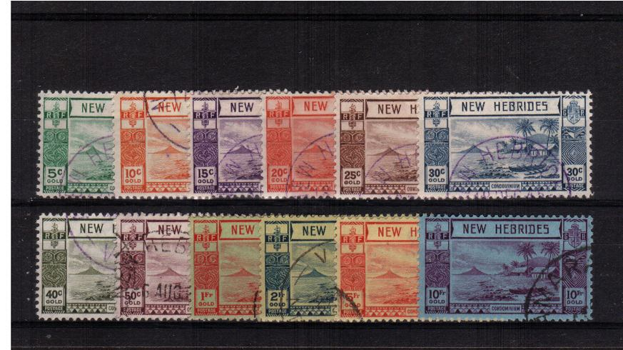 A superb fine used set of twelve each stamp cancelled with part of a matching CDS cancel. Stunning!<br><b>XPX</b>