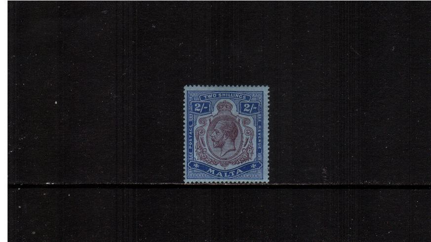 2/- Purple and Blue on Blue<br/>