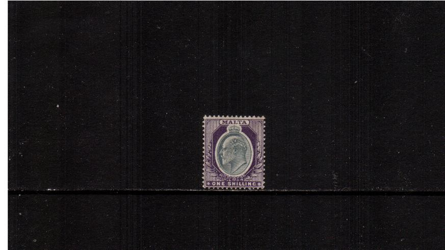 1/- Grey and Violet - Watermark Crown CA<br/>