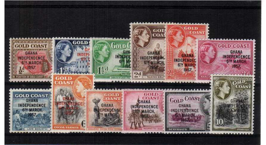 A fine very lightly mounted mint set of  twelve.<br/><b>QPX</b>