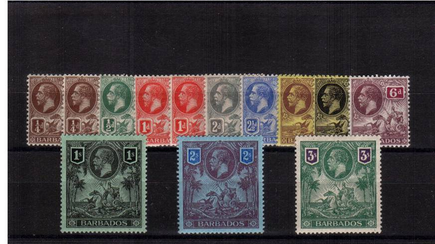 A fine lightly mounted mint set of eleven the bonus of the two SG catalogue listed shades.