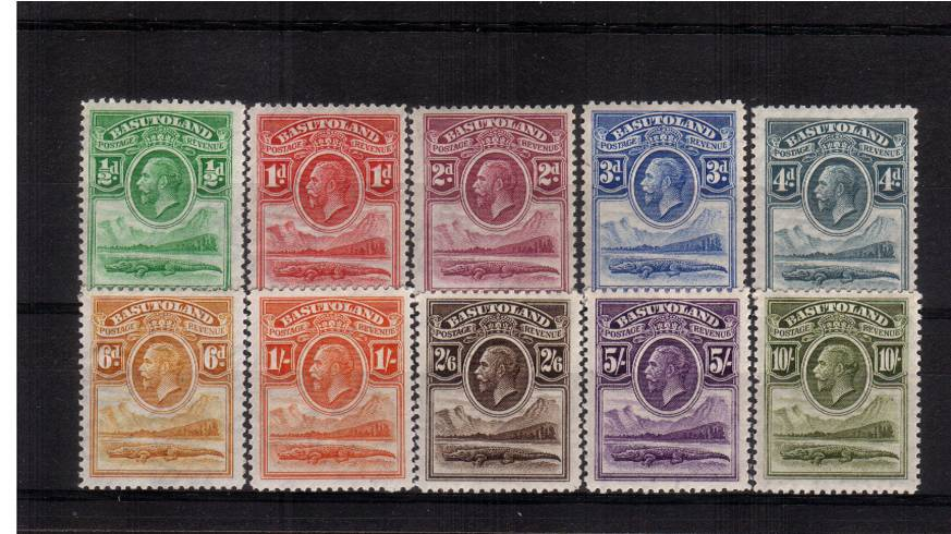A fine lightly mounted mint set of ten.