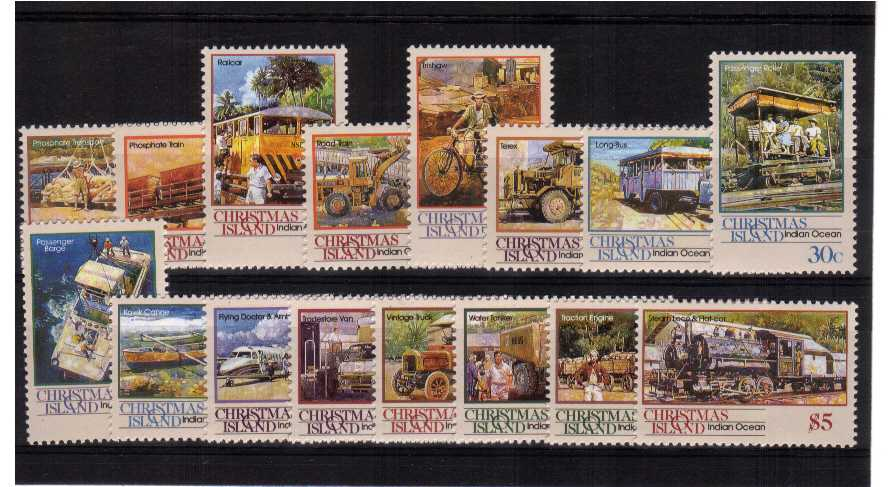 Trains - A superb unmounted mint set of sixteen